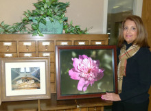 Diane Vitale with Art