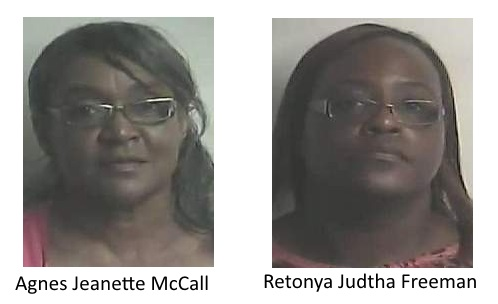 Bladen County Sheriff Deparment Arrestted McCall and Freeman