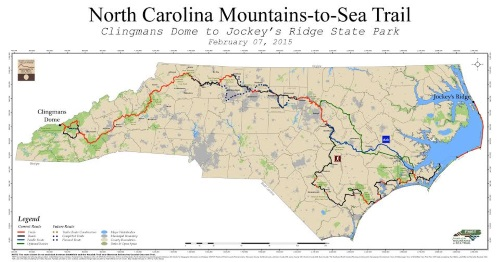 North Carolina Mountain to the Sea Map