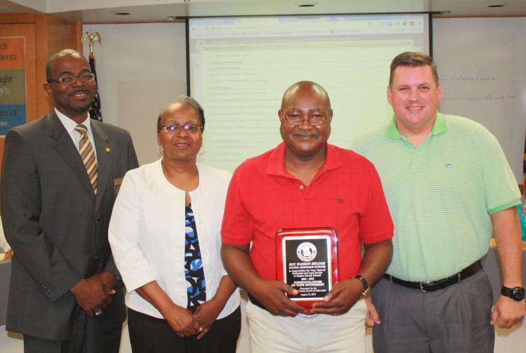 Bladen County School Board Recognizes SRO retirement