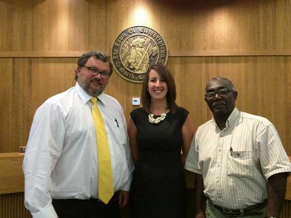 Howell Clark, Mrs. Ashley Dowless and Mr. Lorenzo McDowell
