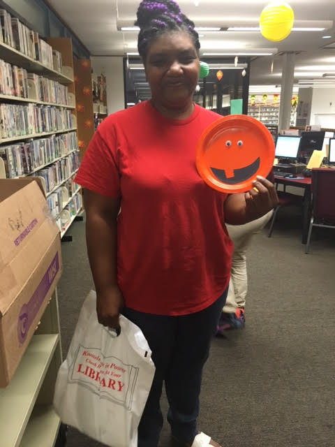 Ann Daniels from Elizabethtown at Bladen County Library Halloween Party