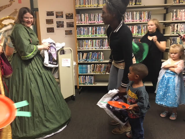 Bladen County Library Director with Children