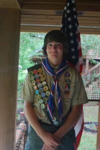 Eagle Scout Payton Brian Davis in Bladen County