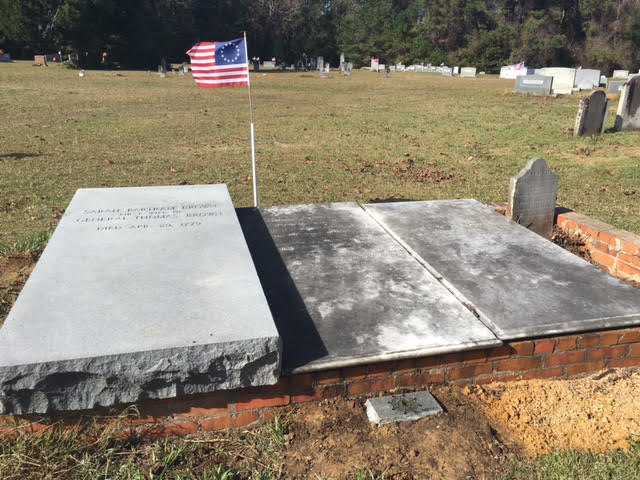 General Thomas Brown Grave in Bladen County