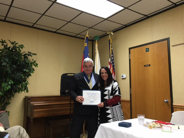 Michael Aycock presented with the Walter Zeller Fellowship
