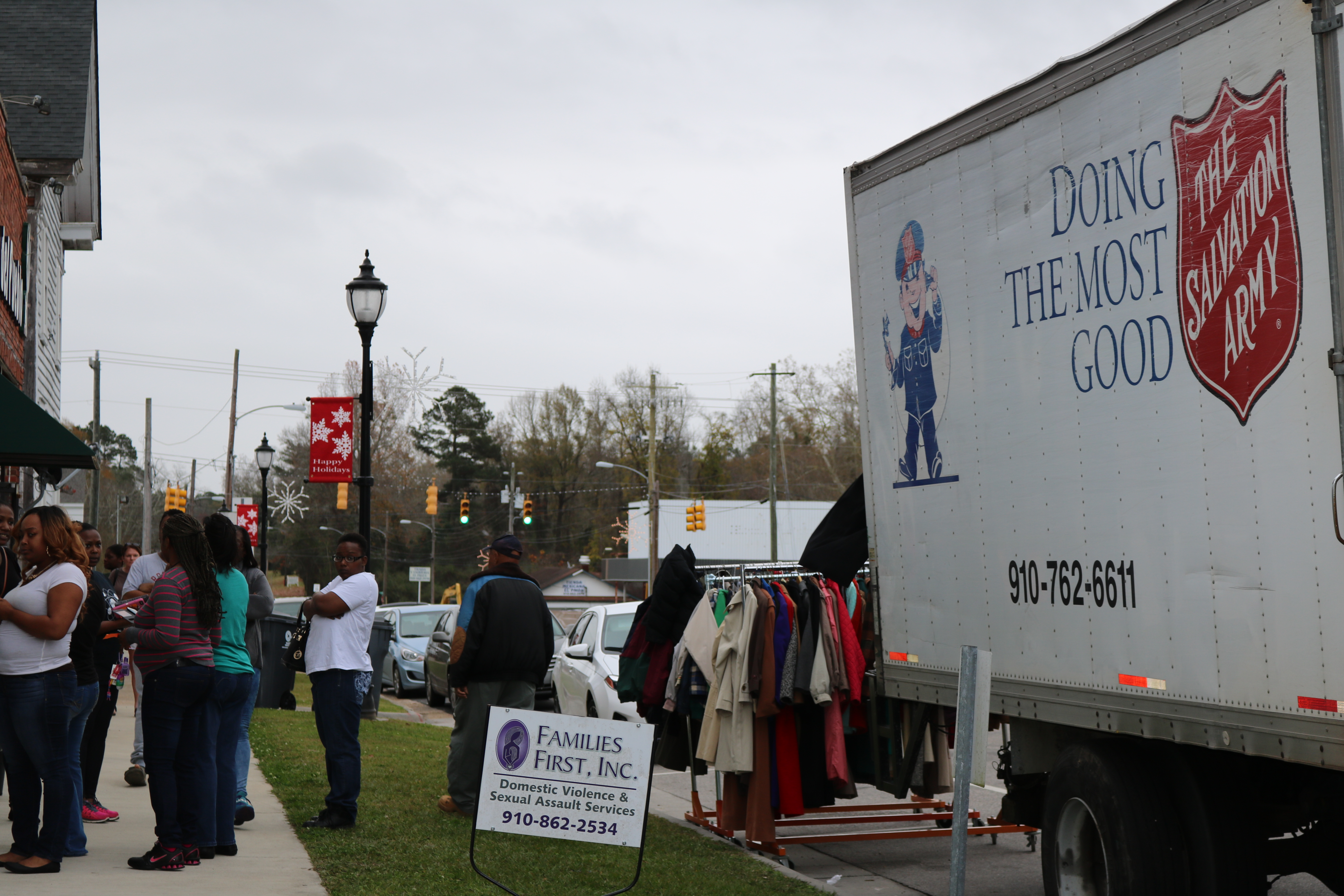 Salvation Army gives clothes and toys in Bladen County