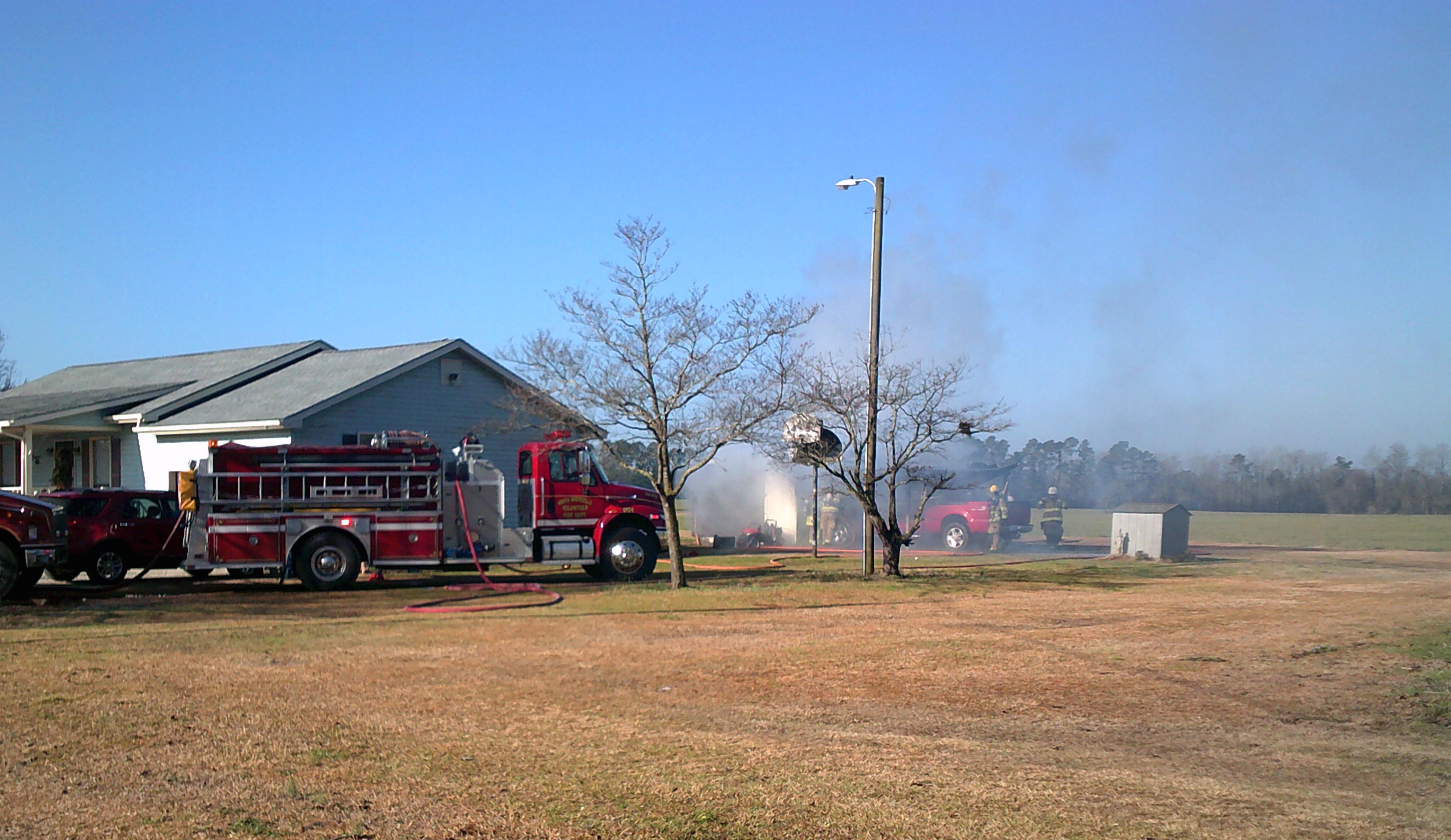Whiteville Barn Fire 2