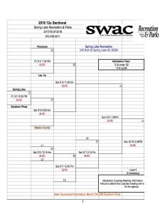 2016 Spring Lake SWAC Sectional 12u Boys