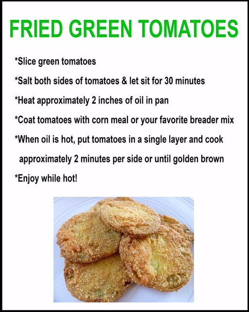 Fried Green Tomatoes Recipe from Lu Mil Vineyard