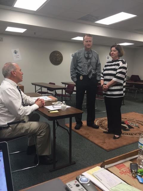 Erin Smith arrested at the Bladen County Schools Jailathon