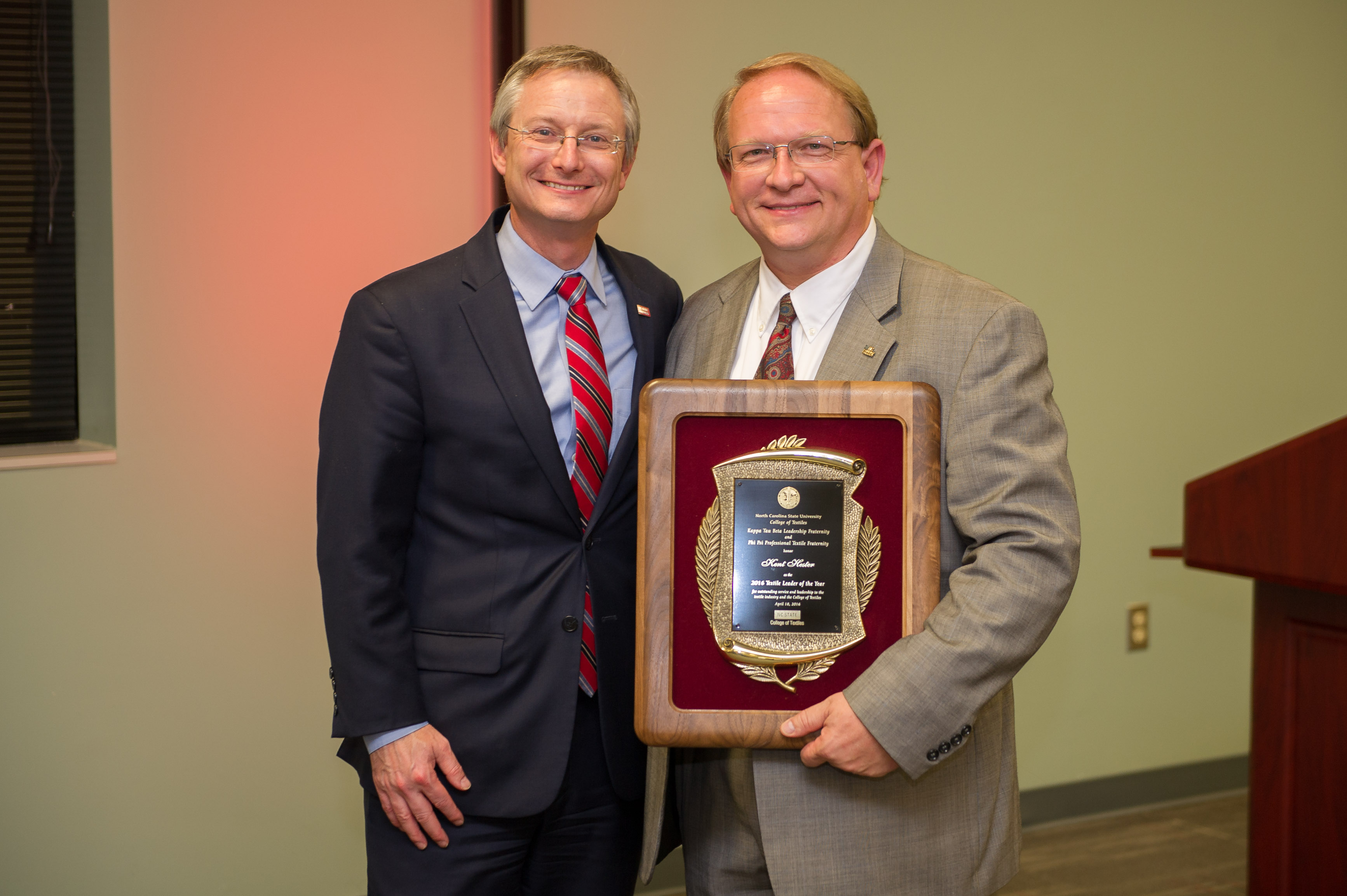 NC State's College of Textiles Names Kent Hester 2016 Leader