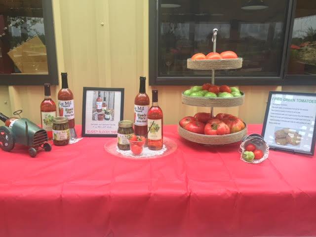 Lu Mil Vineyard Display for Tomato Sandwich Day