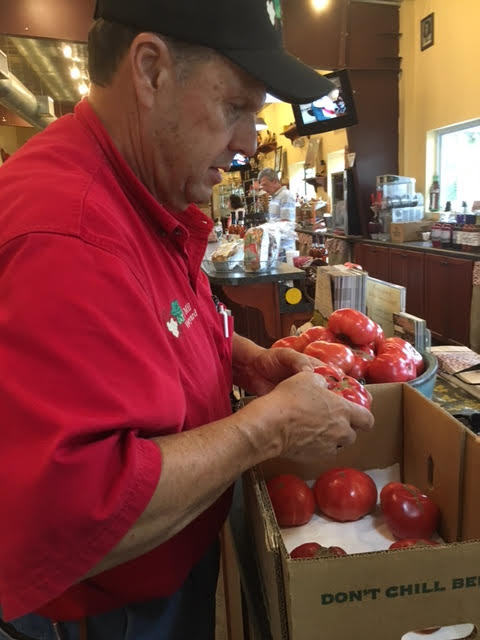Ron Taylor at Lu Mil for Tomato Sandwich Day