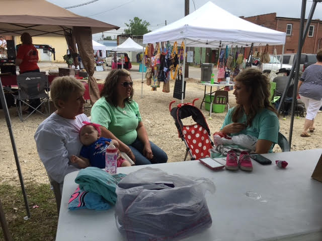 family at Spring Fest in Bladenboro