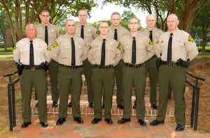 Front row, left to right: Capt. Mickey Little, Philip Fulmer, Bradley Jordan, Jake Thompson, Lt. Ben Meyer Back Row, left to right: Brandon Bonner, Devin Layne, Justin Owenby, Eric McManus