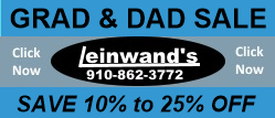 Leinwands Grad and Dad Sale ad