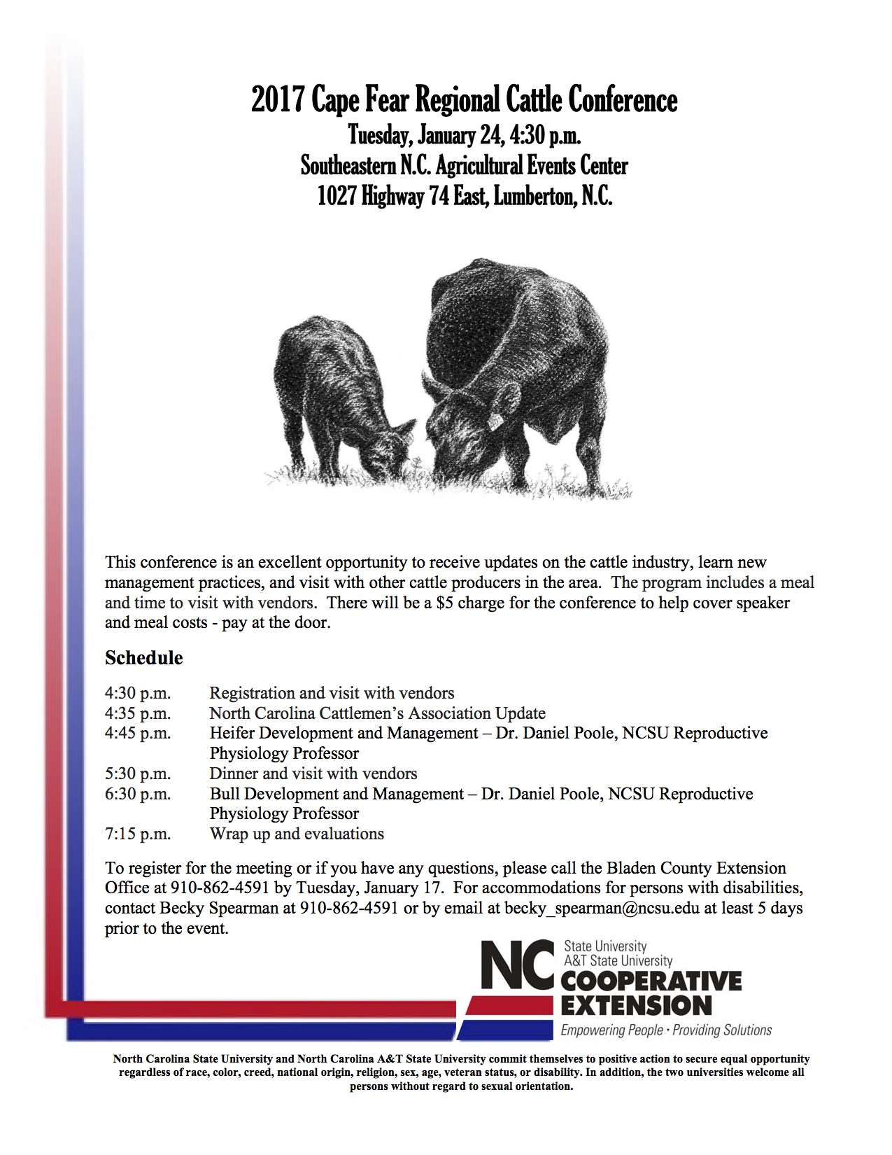 Cape Fear Cattle Conference set for January 24