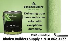 Bladen Builders Benjamin Moore Green paint