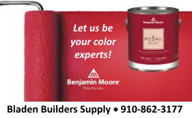 Bladen Builders Supply red paint