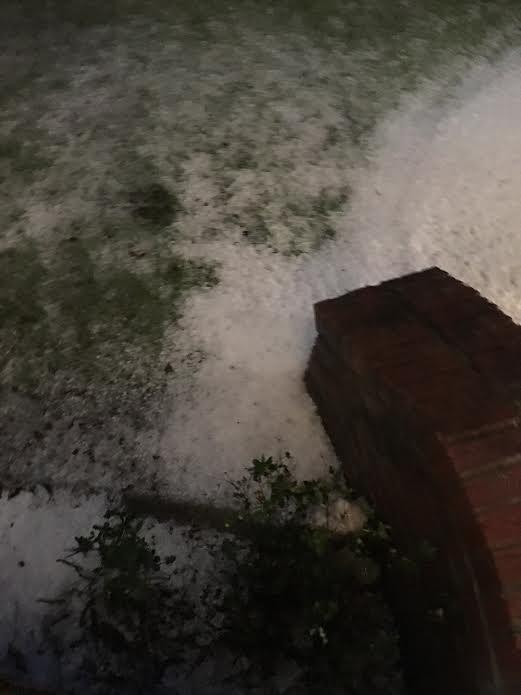 Hail at White Lake NC 5