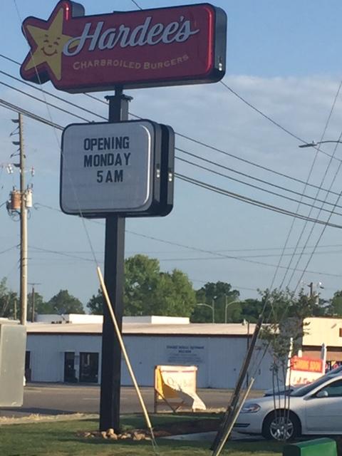 Hardees restaurant in Elizabethtown set to open Monday