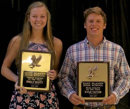 East Bladen athletic award winners