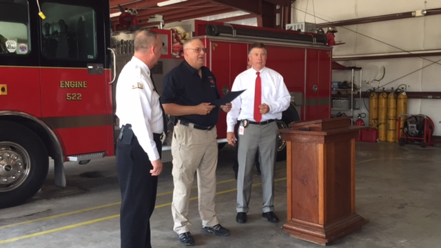 Clarkton Firefighter Rusty Marsh honored with Order of the Guardian