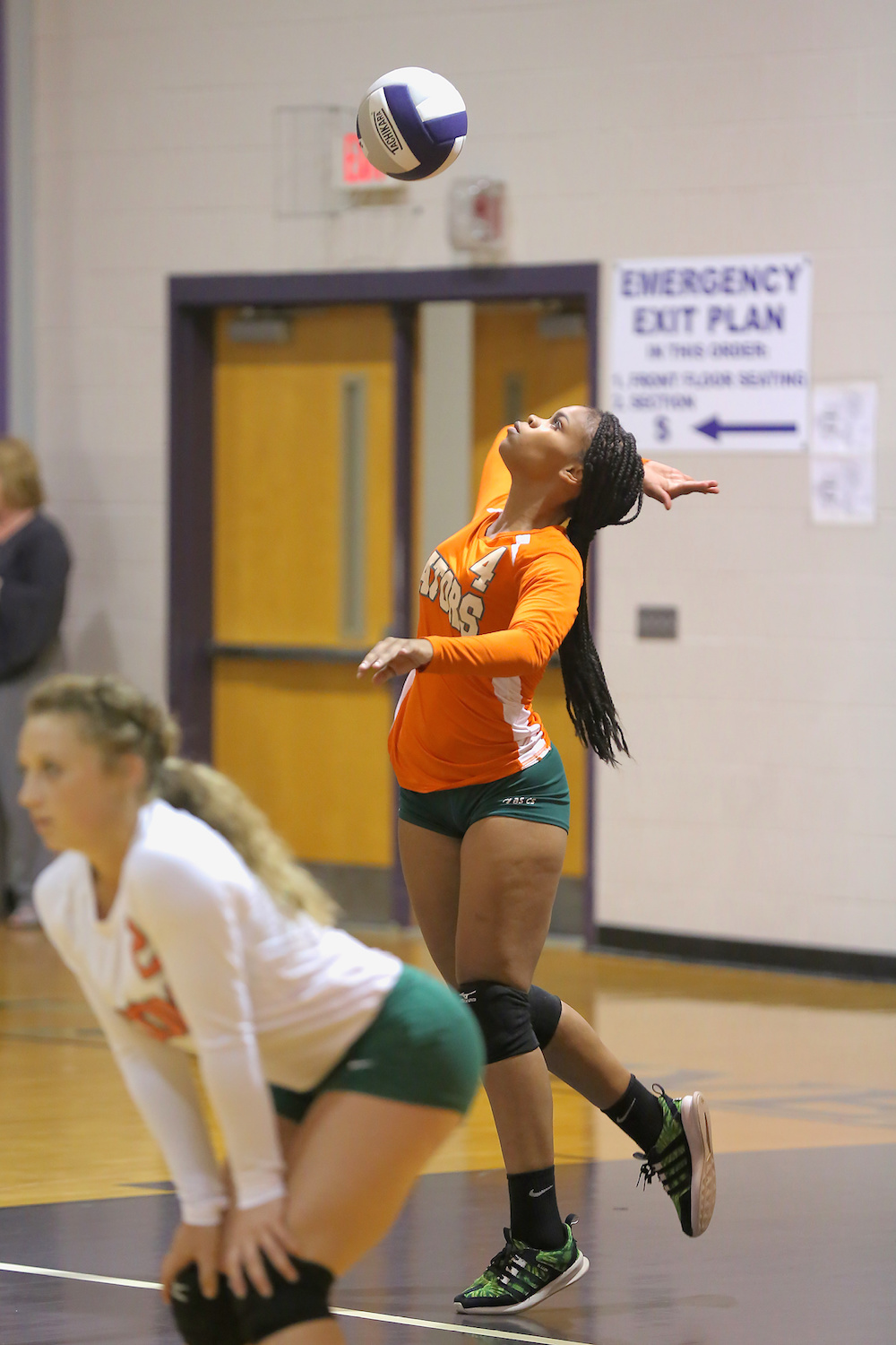 East Columbus v West Bladen volleyball 2017 4