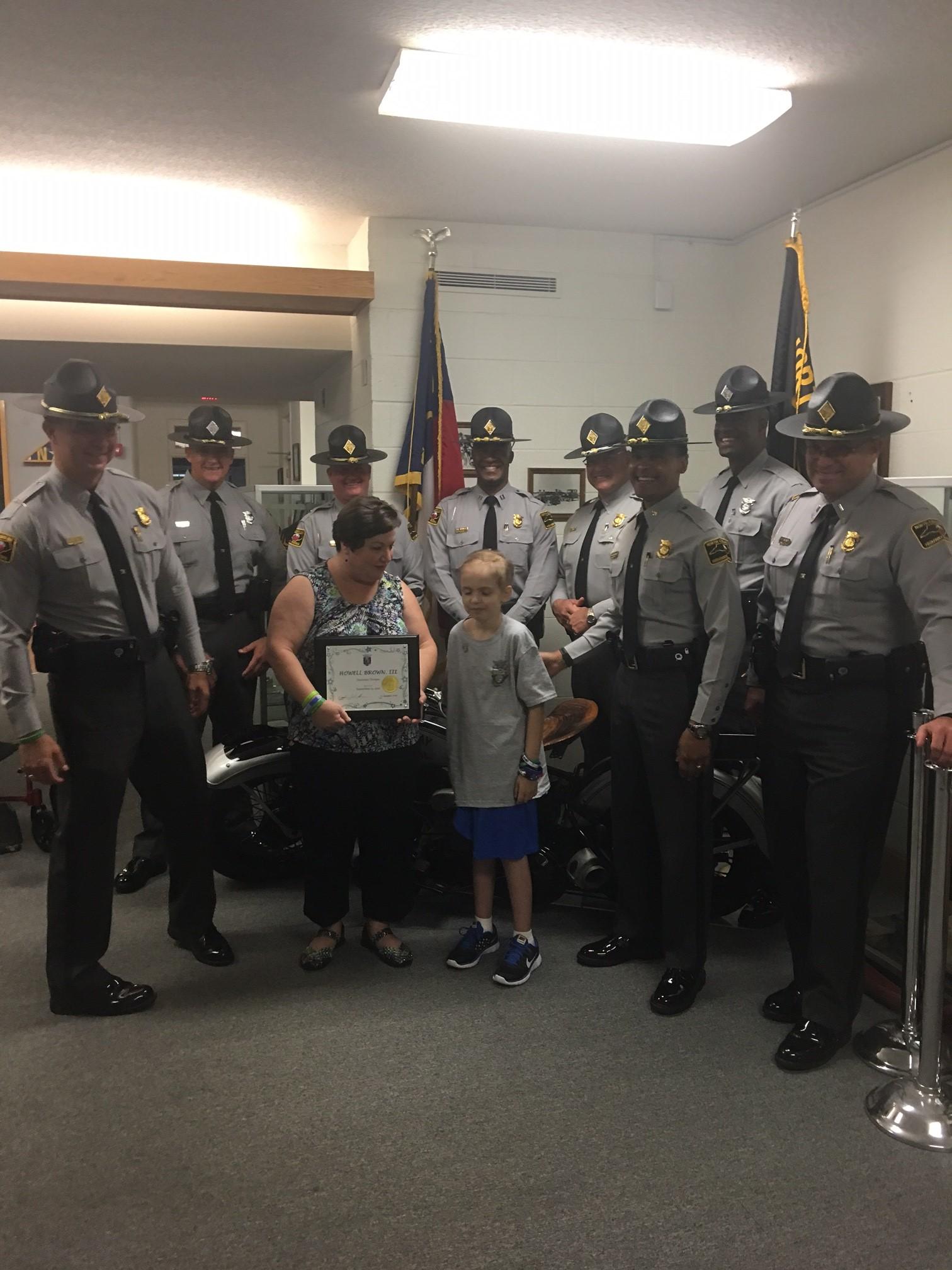 North Carolina State Highway Patrol Holds Promotional