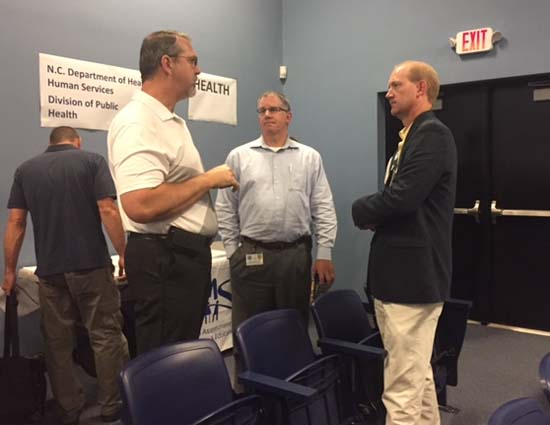 David Howard, Kip McClary at meeting