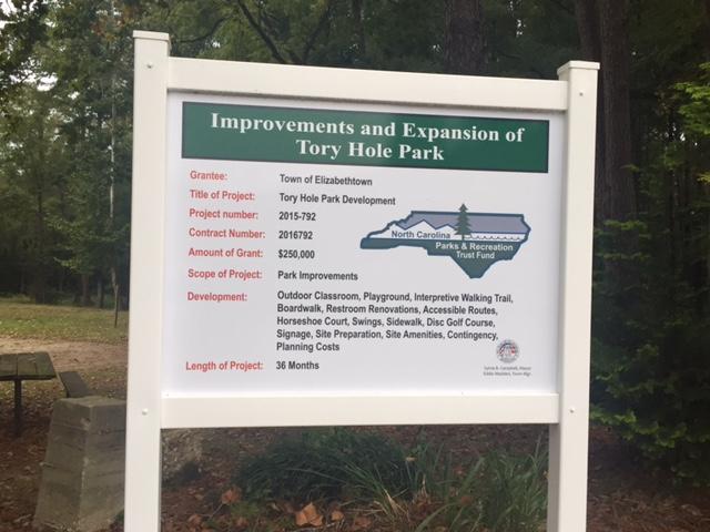 Tory Hole Park improvements