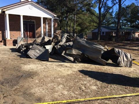 Sampson County church destroyed by fire