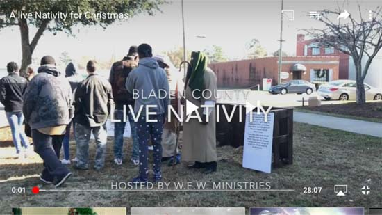 A live Nativity in Bladen County