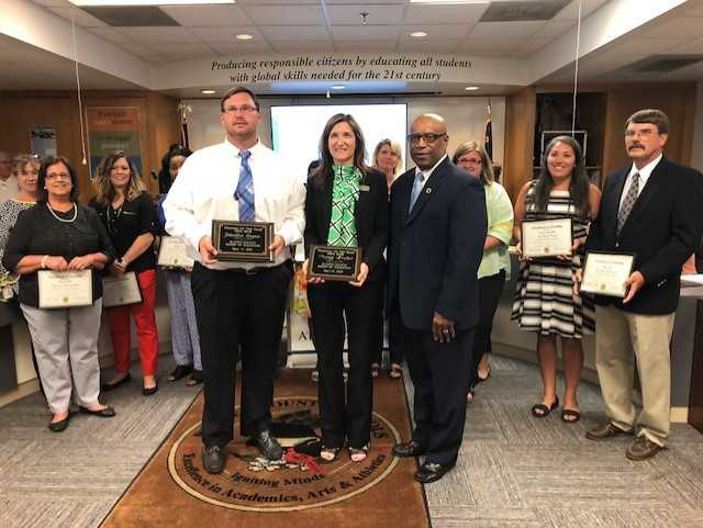 Peggy Hester honored at board meeting