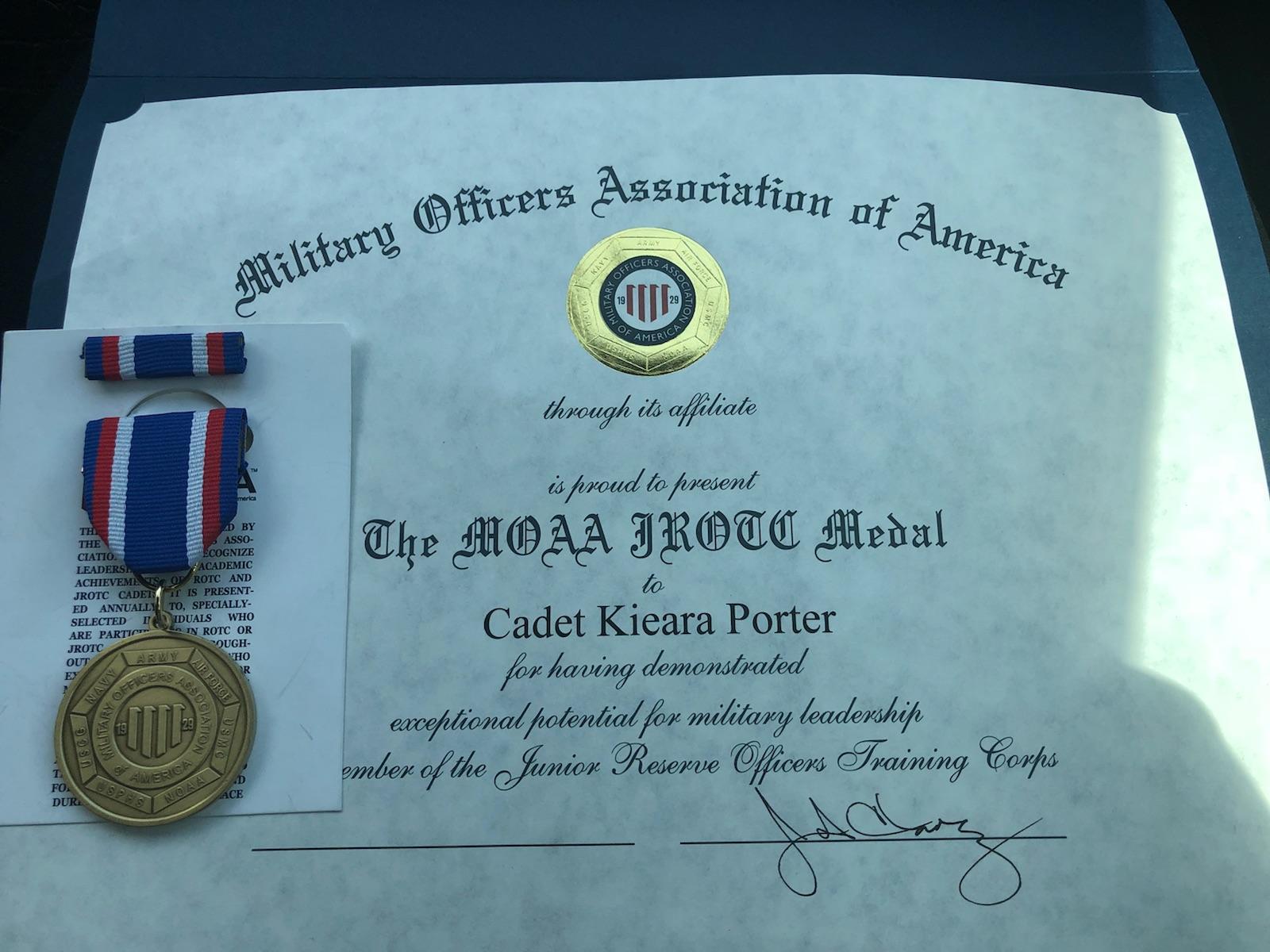 Porter Military Metal - Certificate