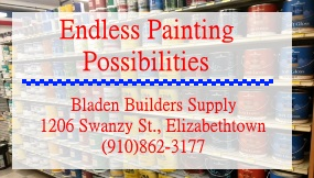 Bladen Builders Supply ad