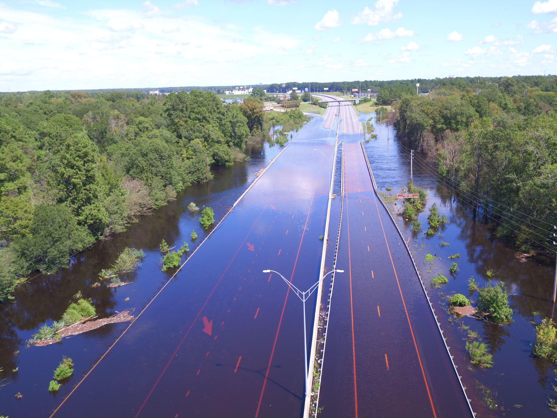 I 95 Detour bypasses flooded town