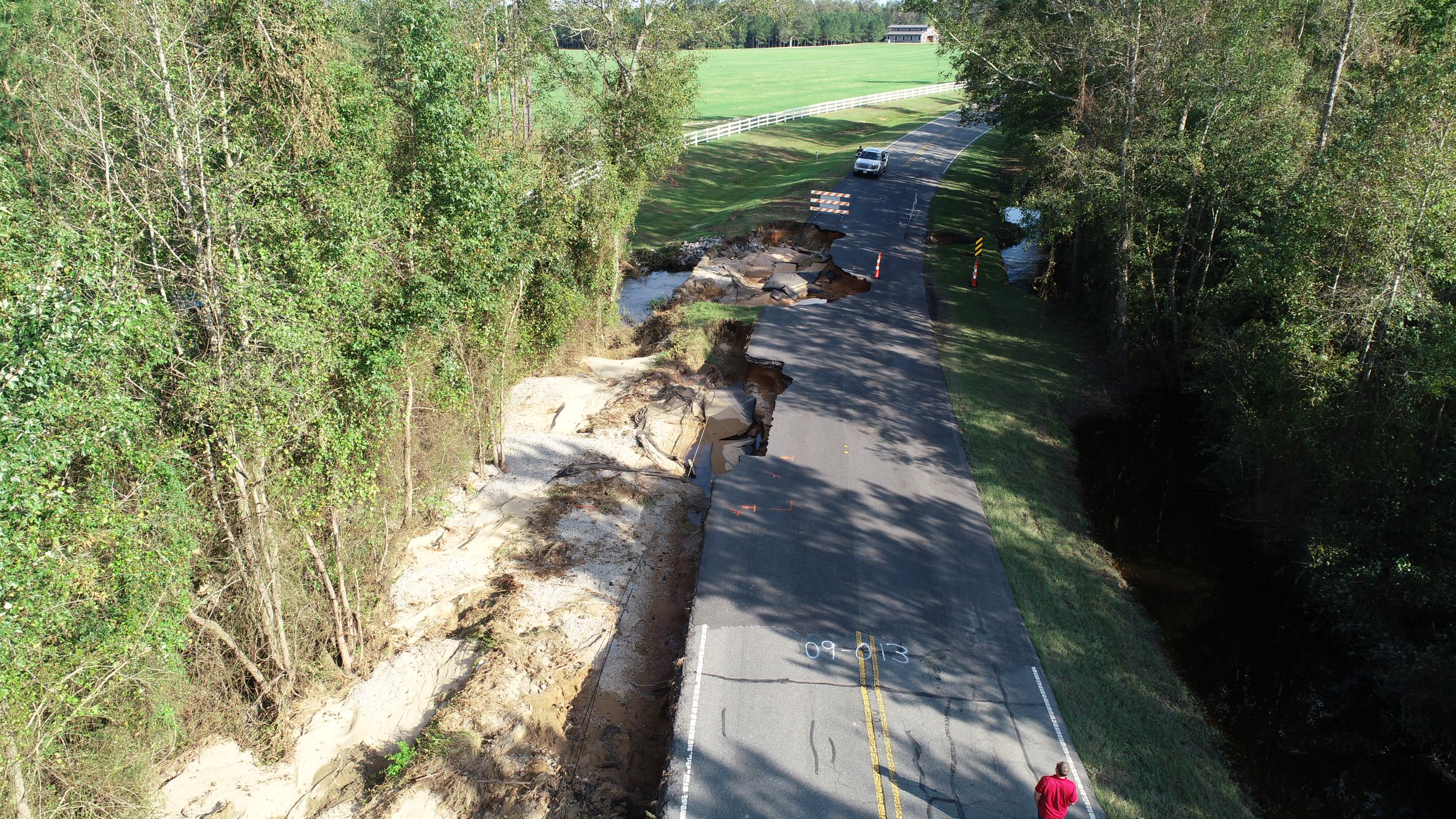 NC 210 North in Bladen County Hurricane Florence 1
