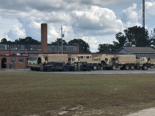 Troops arrive in Bladen 1
