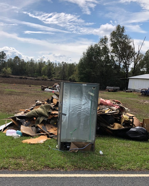 Hurricane damage from Florence and flood