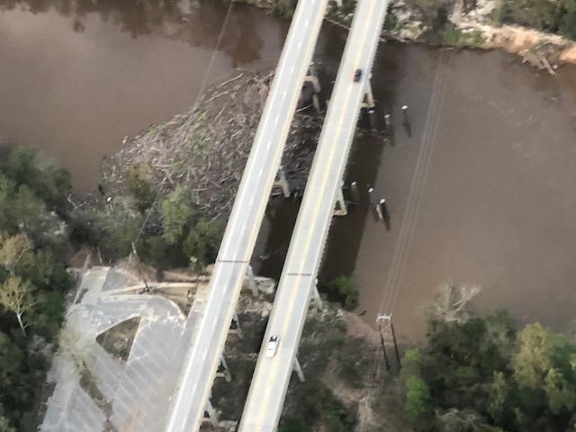 Hurricane Florence damage to 701 bridge