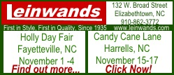 Leinwands new ad for holiday fairs