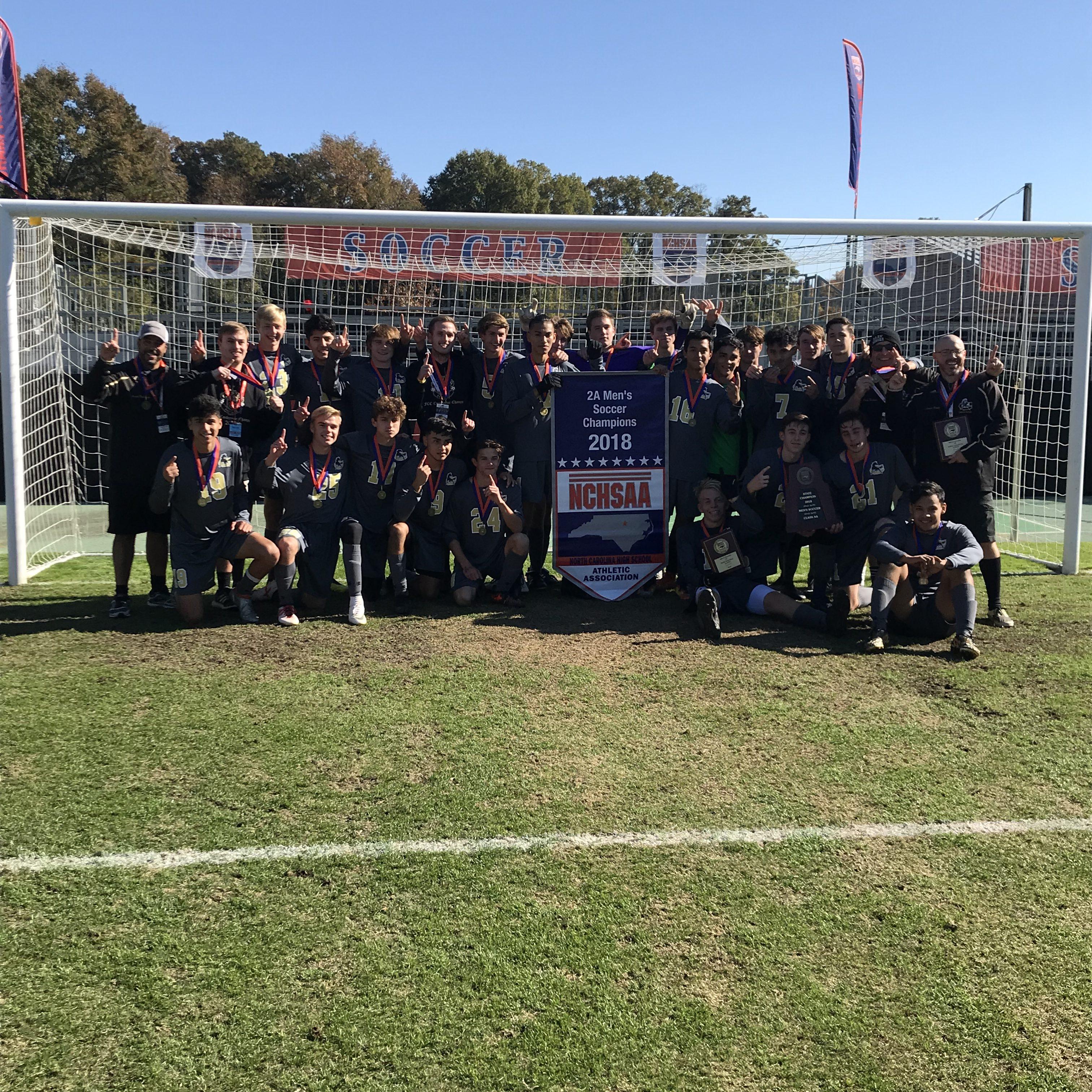 Clinton 2A Men's Soccer Champions 2018