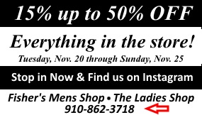 Everything off Thanksgiving sale for fishers 2