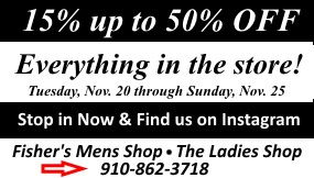 Everything off Thanksgiving sale for fishers