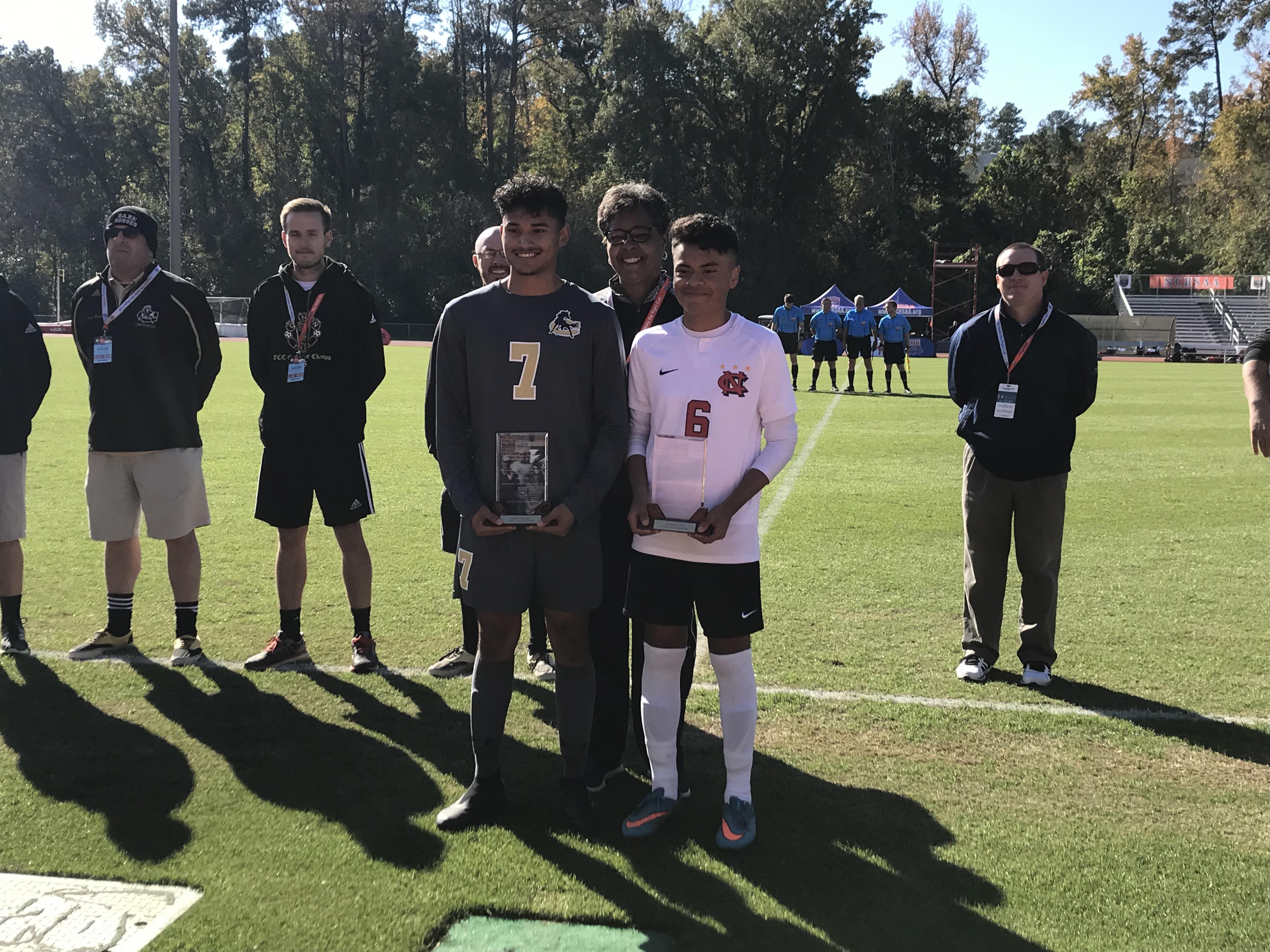 Manuel Murrillo (Clinton) & Benjamin Soto (N-C) 2018 2A Sportsmanship MSOC