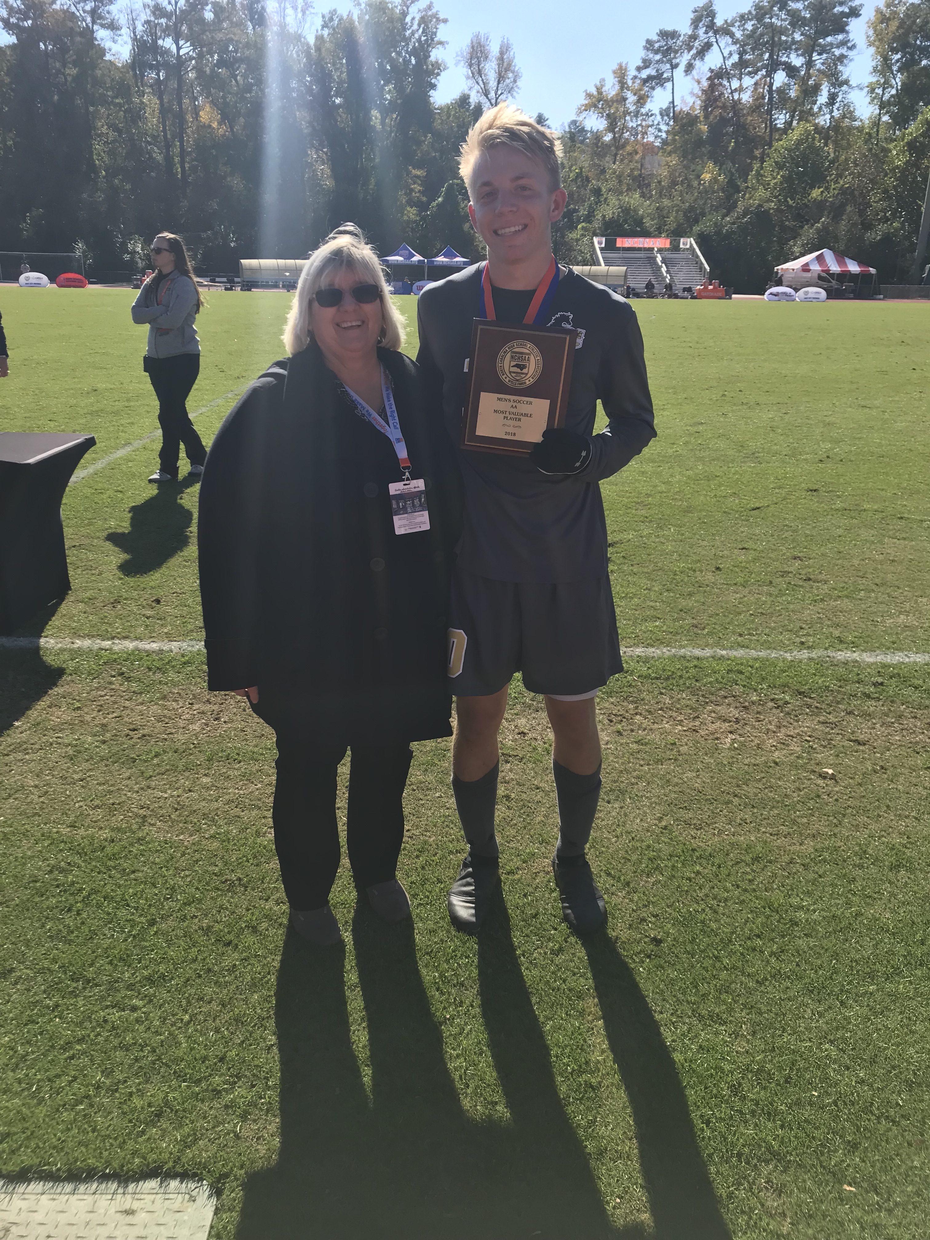 Parker Norris (Clinton) 2A Men's Soccer MVP 2018
