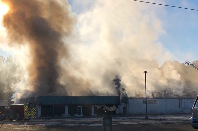 Former Accent Dye Works building catches fire in Elizabethtown