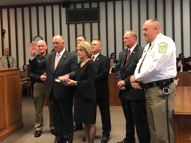 Swearing in 2018 Sheriff McVicker